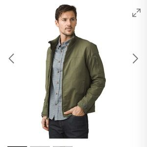 Prana Bronson Olive green jacket size S